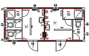 2 duschen 3 wc 2 urinale. Black Bedroom Furniture Sets. Home Design Ideas