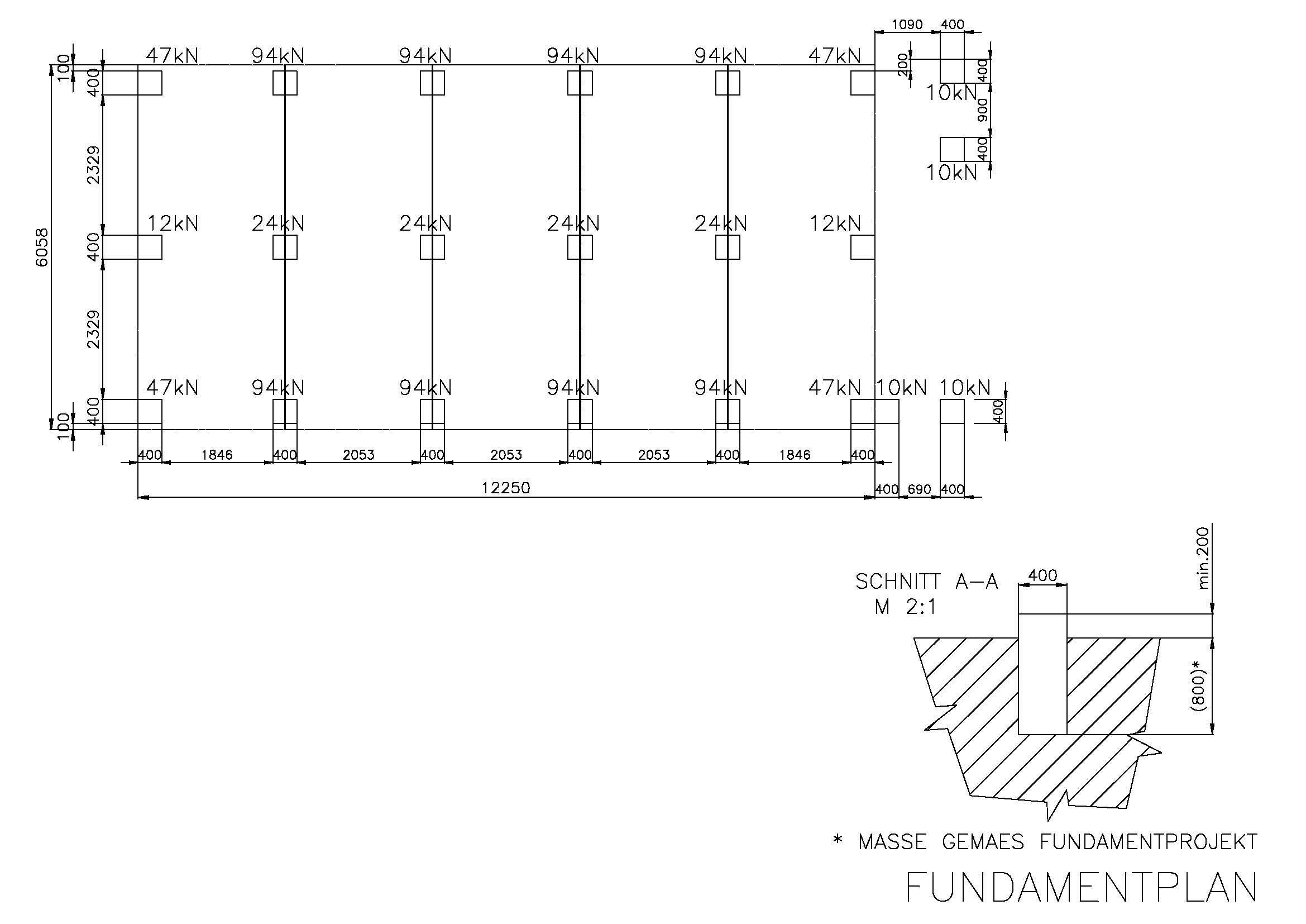 Likeable Container Aufstellen Ohne Baugenehmigung Collection Of Fundamentplan: Lastangaben, Beispiel Für 2-geschossige Anlage